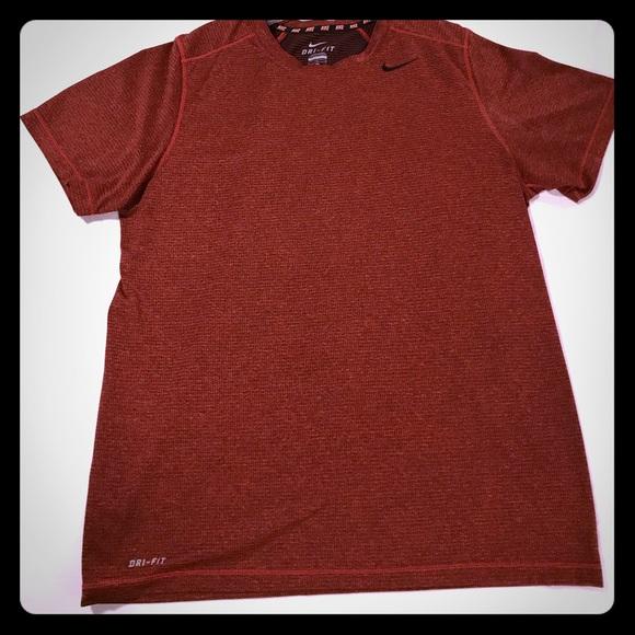 Men's Nike Dri Fit T shirt (redblack)